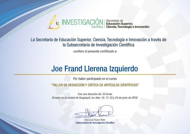 Joe Frand LLerena Izquierdo